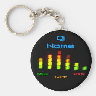 DJ añade su barra personal conocida EQ del equaliz Llavero Redondo Tipo Chapa