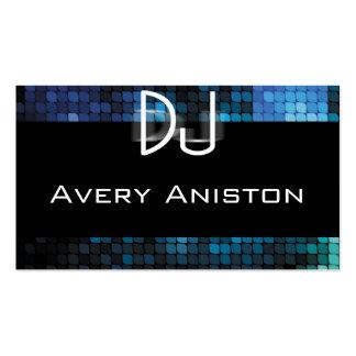 DJ azul y negro Tarjetas De Visita