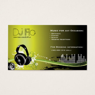 DJ - coordinador de la música del disc jockey Tarjeta De Negocios