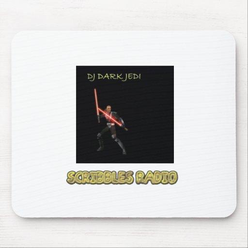 DJ Jedi oscuro garabatea la estera de radio del Tapetes De Raton
