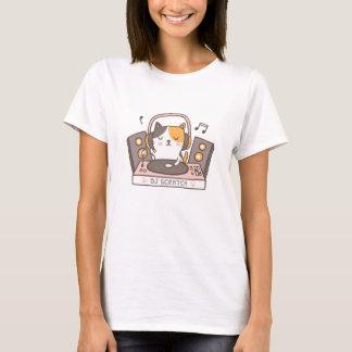 DJ lindo rasguña la camiseta del humor del