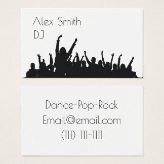 DJ moderno va de fiesta la tarjeta de visita de la