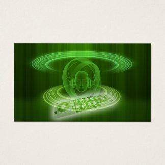 DJ se pone verde Tarjeta De Visita