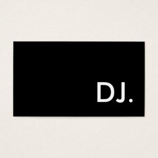 DJ TARJETA DE NEGOCIOS