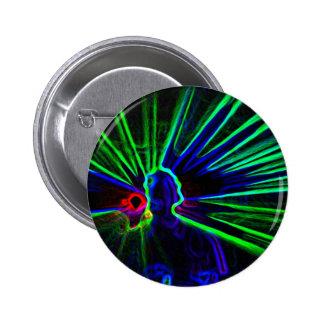 DJ y botón de las luces laser/insignia