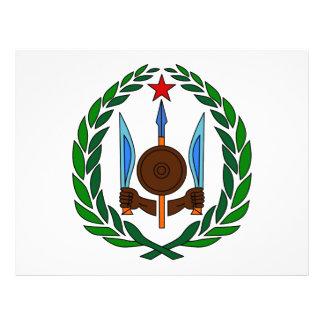 Djibouti Escudo de armas Tarjetas Publicitarias