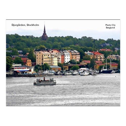 Djurgården, Estocolmo, Ola de la foto… Postales
