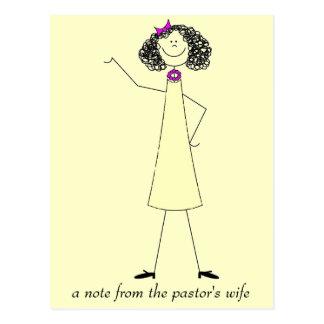 dkpwcolor, una nota de la esposa del pastor postal