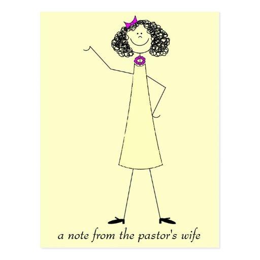 dkpwcolor, una nota de la esposa del pastor postales