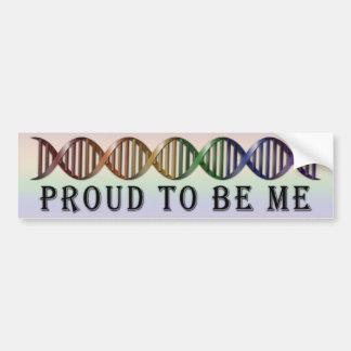 DNA del arco iris del orgullo de LGBT Pegatina Para Coche