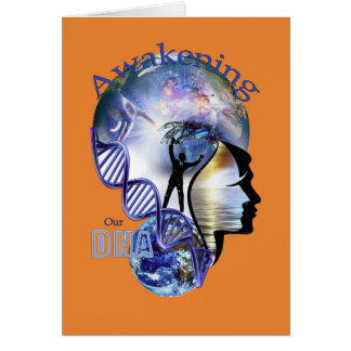 DNA que despierta diseño Tarjeta De Felicitación