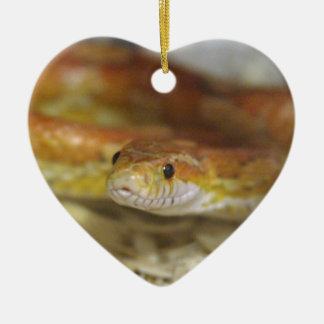 DO la serpiente Adorno Navideño De Cerámica En Forma De Corazón