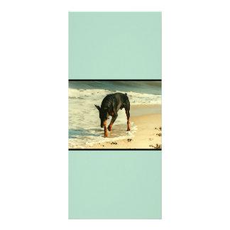 Doberman en la imagen de la pintura de la playa lonas publicitarias