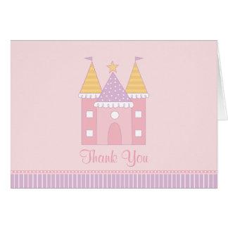 Doblado gracias princesa Castle de la tarjeta de