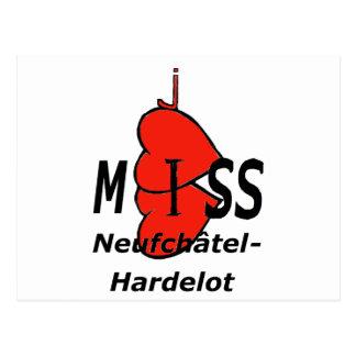 Doble corazón Senorita Neufchatel Hardelot 1.PNG Tarjeta Postal