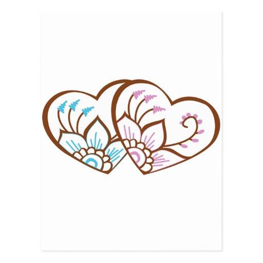 Doble del corazón de la alheña postales