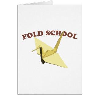 Doble la escuela (Origami) Tarjeta De Felicitación