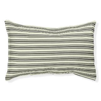 Doble negro que hace tictac del colchón beige cama para mascotas