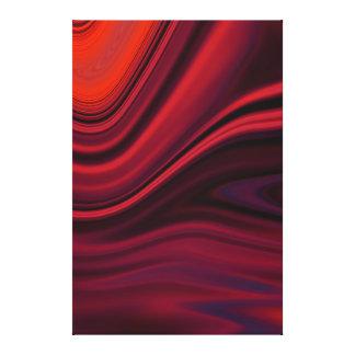 Dobleces de la seda - arte de la lona del rojo