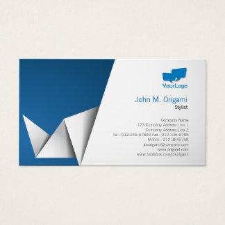 Dobleces de Origami de la tarjeta del estilista