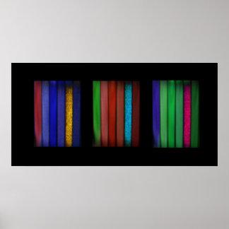 Dobleces del cuadrado del color tres póster