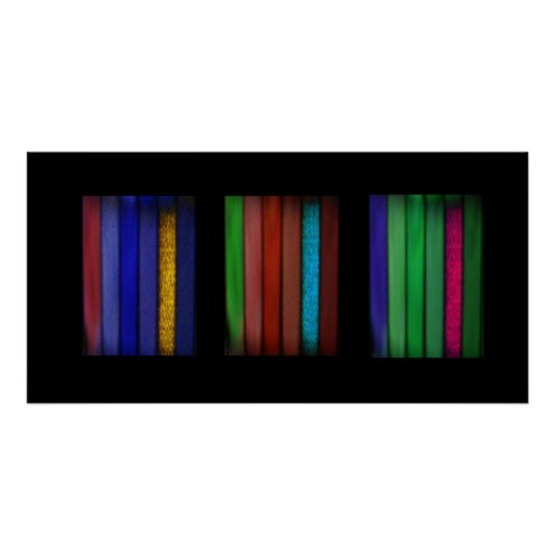 Dobleces del cuadrado del color tres posters