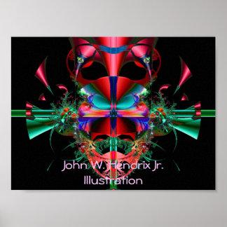 Doblez de la cinta, ejemplo del Jr. de Juan W. Hen Posters