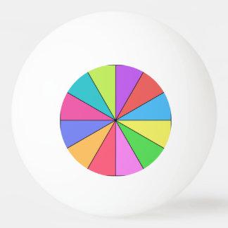 Doce colores de brillante pelota de ping pong
