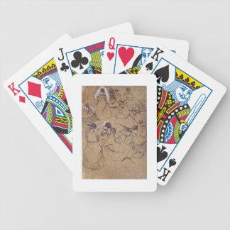 Doce estudios de mujeres en el traje de la segunda baraja de cartas