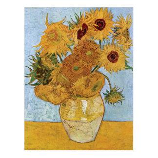 Doce girasoles de Vincent van Gogh Postal