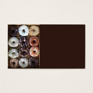 Docena anillos de espuma de los buñuelos tarjeta de negocios