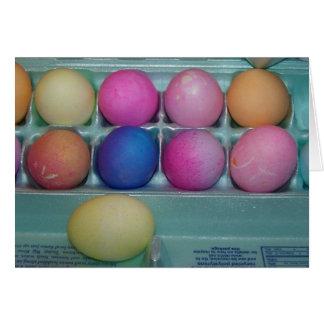 Docena huevos coloreados, Pascua Tarjeta De Felicitación