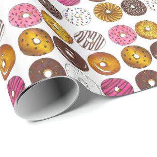 Docena papeles de embalaje del buñuelo de Foodie