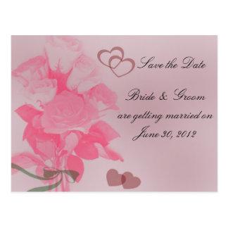 Docena rosas ahorran la postal de la fecha