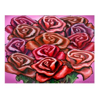 Docena rosas postal