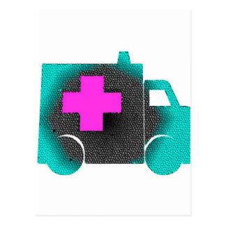 doctor azul cruzado del emt de la enfermera de la postal