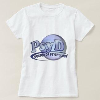 Doctor de PsyD del LOGOTIPO de la psicología Camisetas