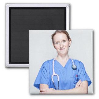 Doctor de sexo femenino 2 iman de nevera
