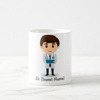 Doctor de sexo masculino trigueno personalizado taza de café