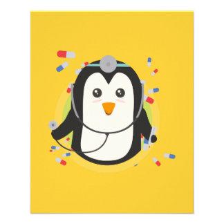 Doctor del pingüino en el círculo Z2j5l Folleto 11,4 X 14,2 Cm