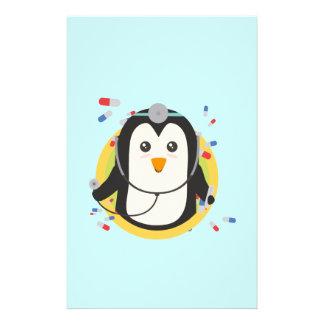 Doctor del pingüino en el círculo Z2j5l Folleto 14 X 21,6 Cm