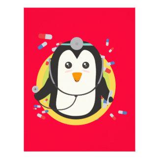 Doctor del pingüino en el círculo Z2j5l Folleto 21,6 X 28 Cm