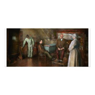Doctor - influencia pasada de moda - 1905-45 tarjeta publicitaria a todo color