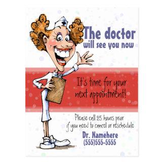 Doctor/postal médica del recordatorio de la cita postal