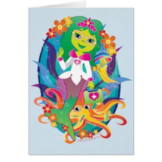 Doctor - princesa - sirena en tarjeta de los
