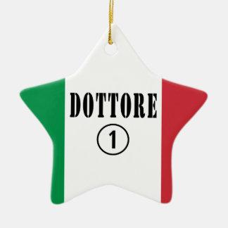 Doctores italianos: Uno de Dottore Numero Ornamento De Navidad