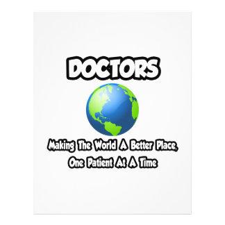 Doctores… que hacen el mundo un mejor lugar tarjetas publicitarias