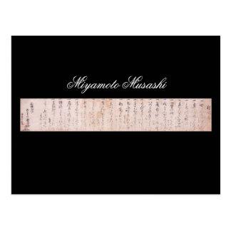 Documente escrito por Miyamoto Musashi, circa 1600 Tarjeta Postal