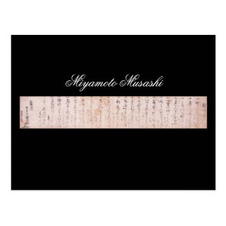 Documente escrito por Miyamoto Musashi, circa Postal
