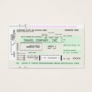 Documento de embarque adaptable de la línea aérea tarjeta de visita